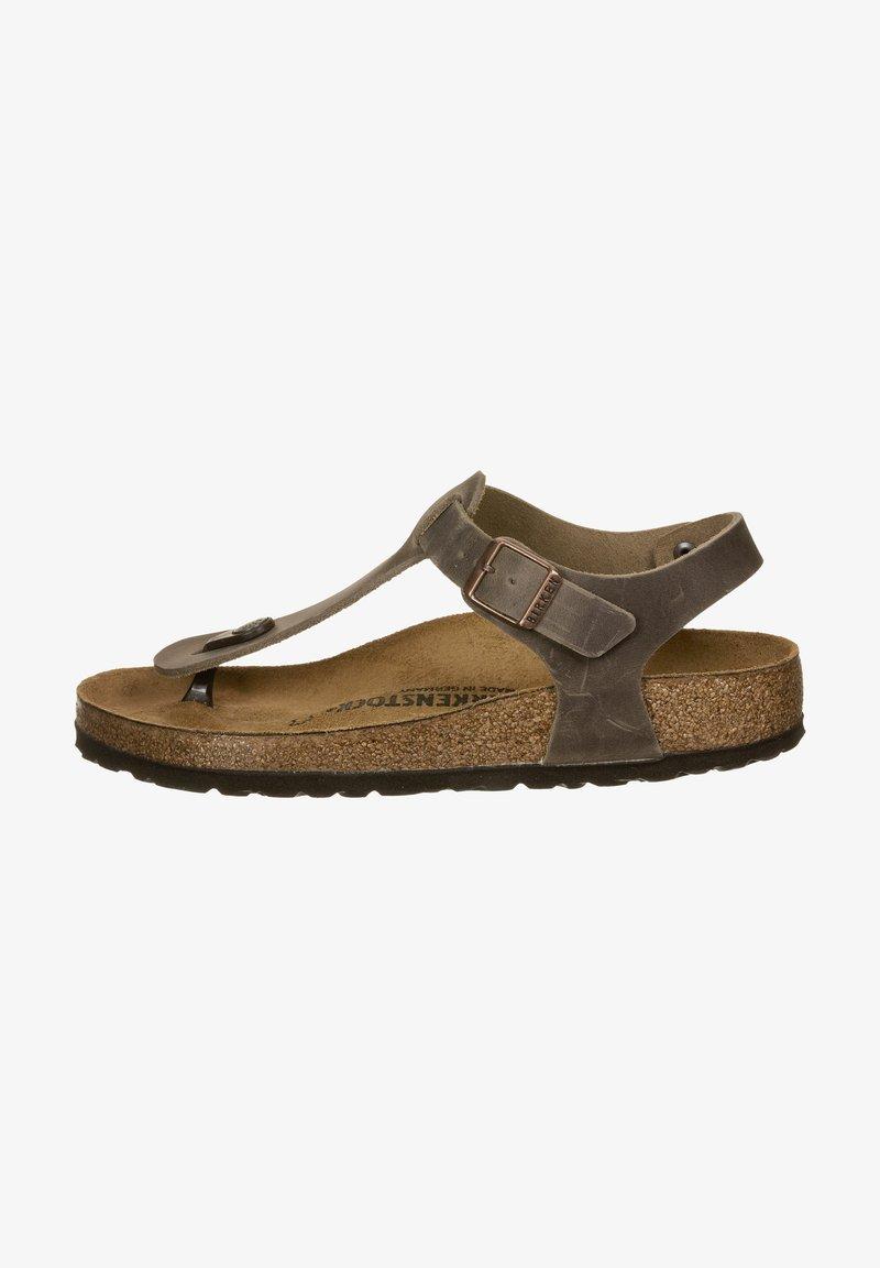 Birkenstock - T-bar sandals -  brown