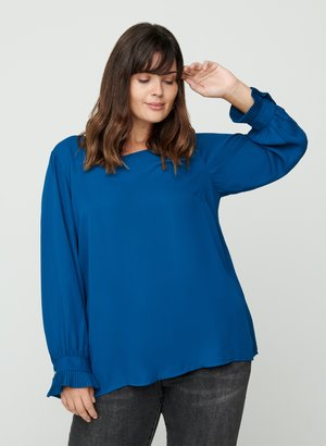 PLISSE - Blouse - blue