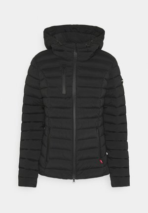 WOLLMANTEL VENEZIA LEICHT TAILLIERT - Light jacket - black