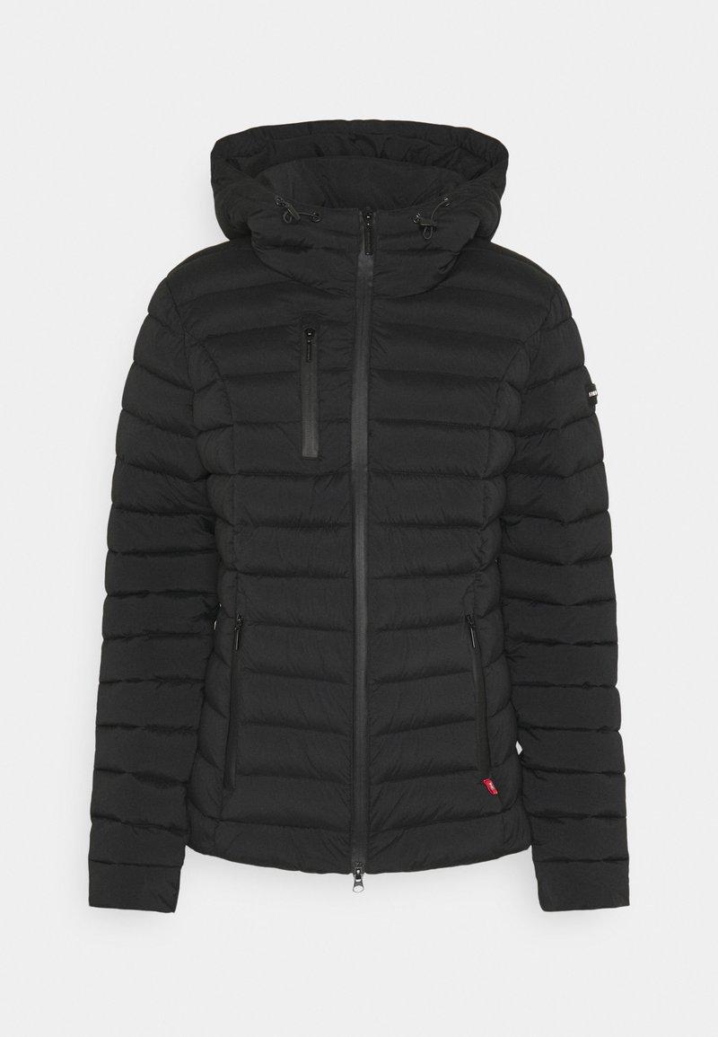 Frieda & Freddies - WOLLMANTEL VENEZIA LEICHT TAILLIERT - Light jacket - black
