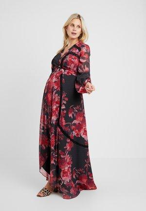 WRAP MAXI DRESS WITH TRIM DETAILS - Vestito estivo - red