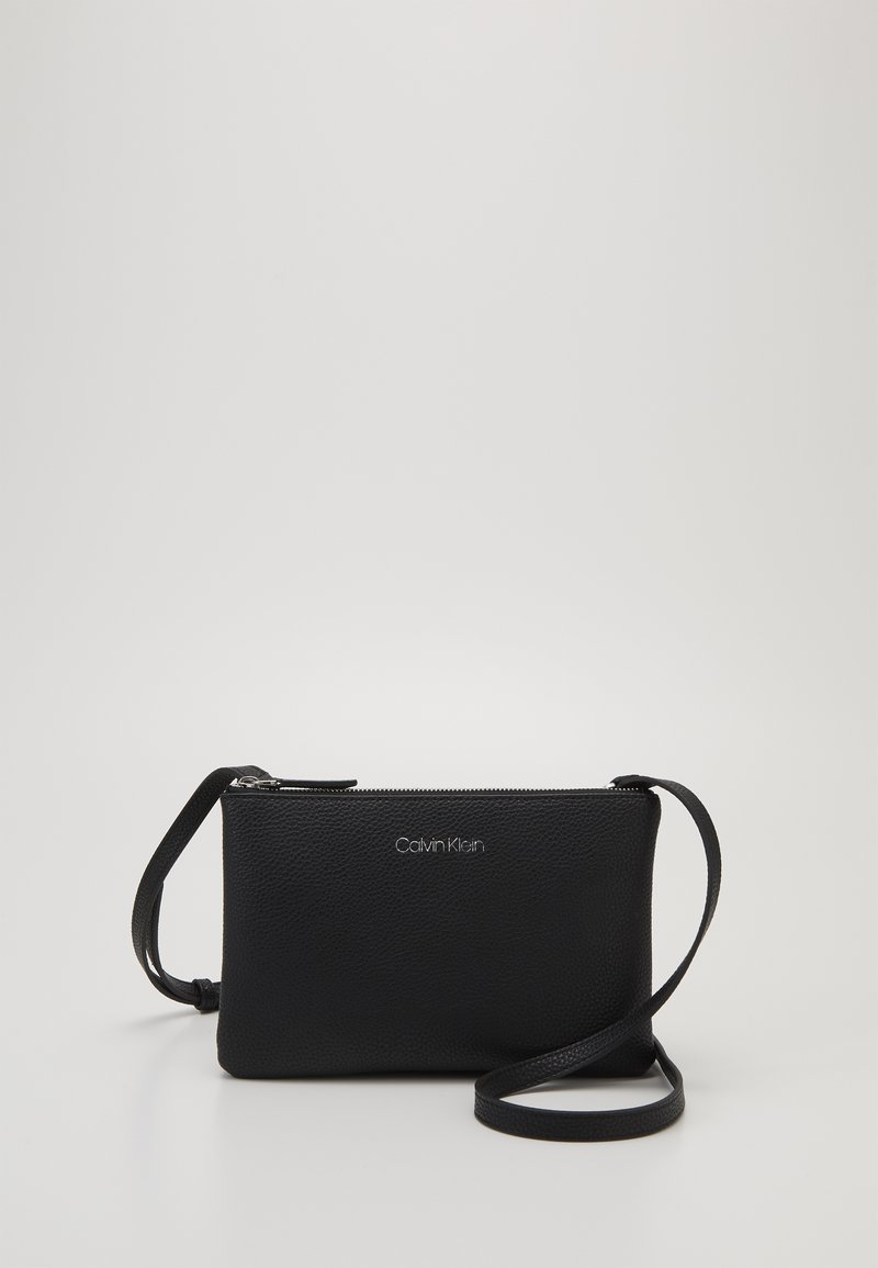 Calvin Klein - EVERYDAY DUO CROSSBODY - Umhängetasche - black