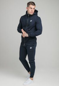 SIKSILK - ZIP THROUGH FUNNEL NECK HOODIE - Felpa aperta - navy - 1