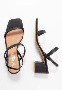 L'INTERVALLE - KENDI - Sandaalit nilkkaremmillä - black - 3