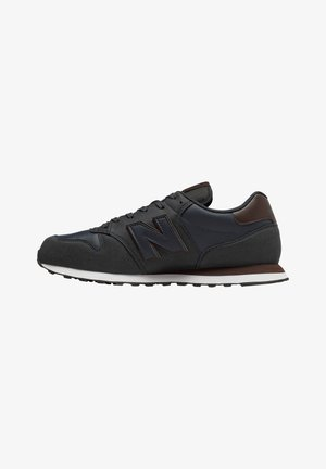 Trainers - navy/brown