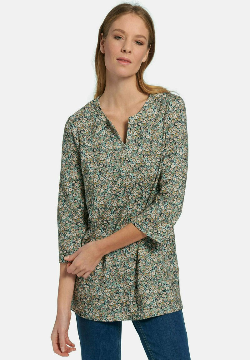 Green Cotton - Blouse - schilf multicolor