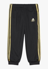 adidas Performance - SHINY FULL ZIP HOODED TRACKSUIT BABY SET - Verryttelypuku - black/gold - 2