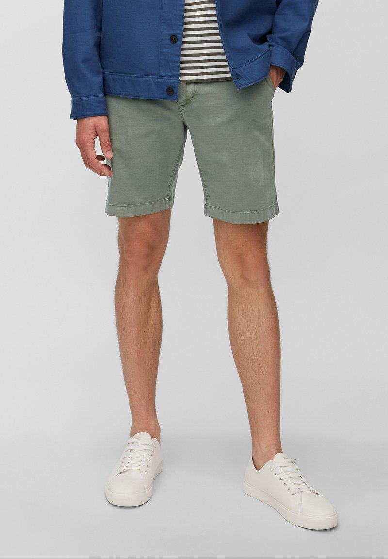 Marc O'Polo - SLIM FIT PIPED BACK POCKET - Shorts - found fossil
