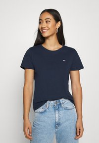 Tommy Jeans - SOFT TEE - T-shirt basic - navy - 0