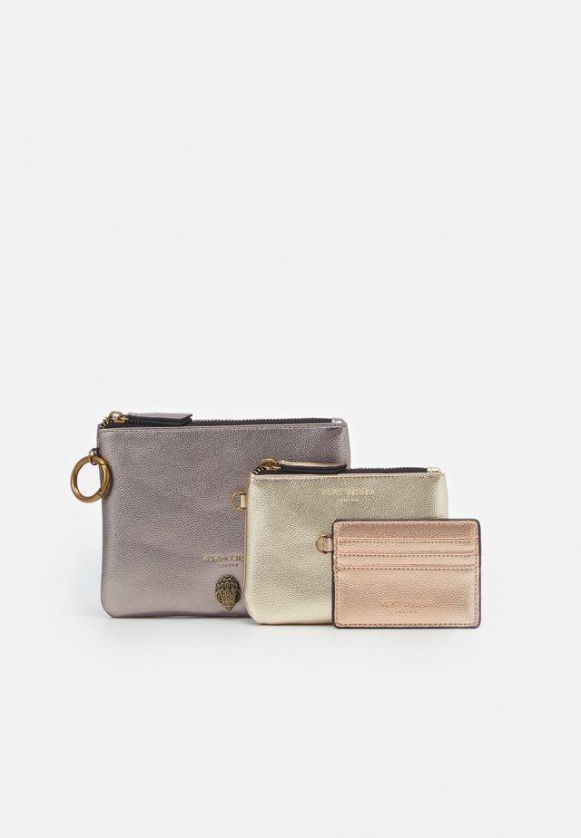 TRIPLE POUCH SET - Wallet - gold