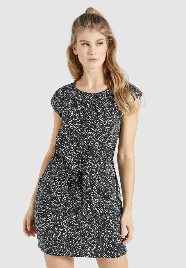 CANDIDE - Etui-jurk - schwarz-weiß gepunktet