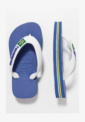 BRASIL LOGO - Teenslippers - blue, white