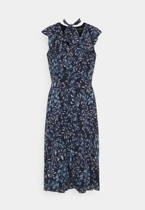 PRINTED GEORGETTE DRESS - Vestido informal - navy/blue