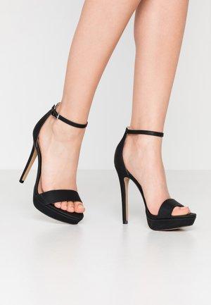 WESTKAAP - Korolliset sandaalit - black
