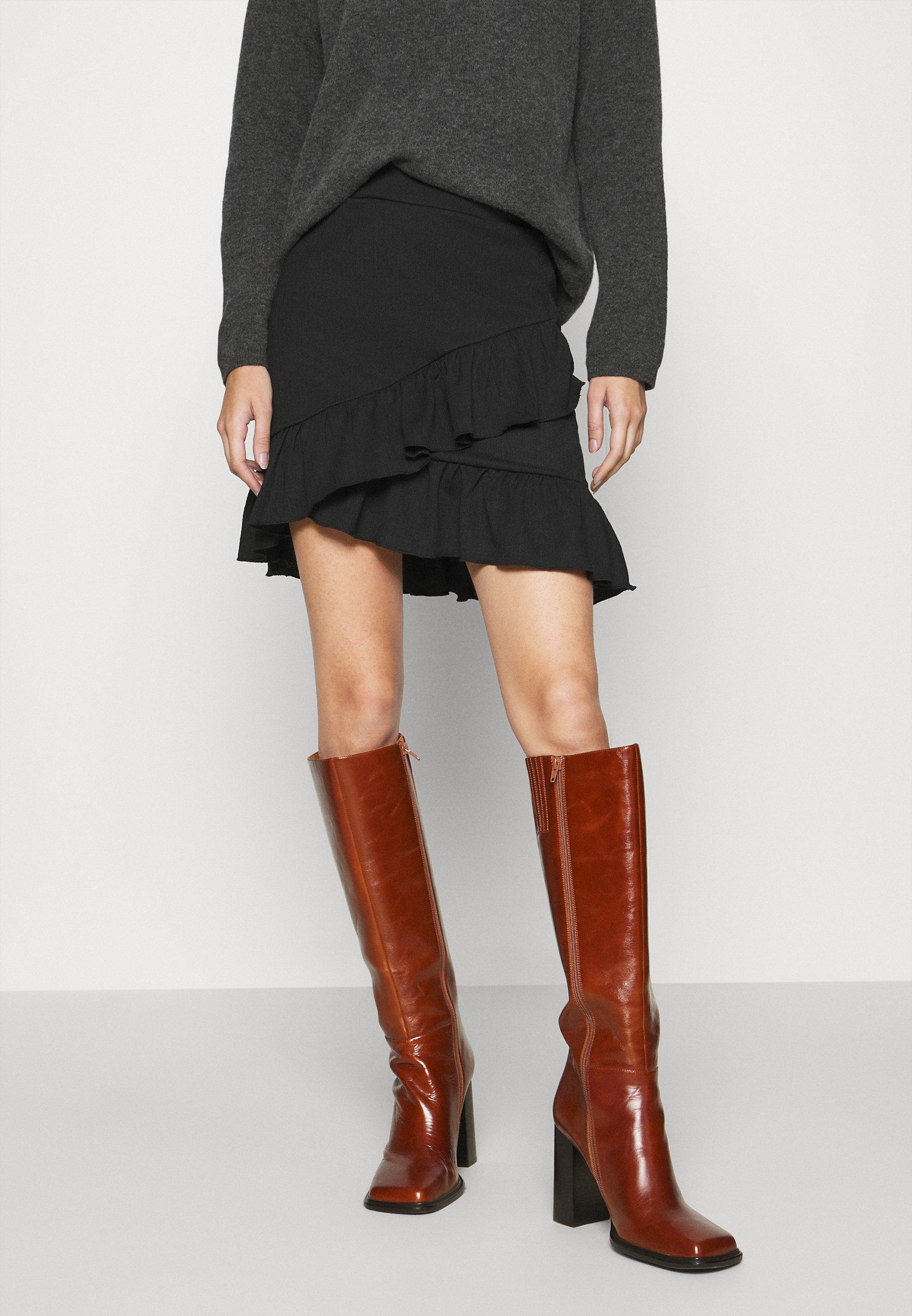 Femme FRILL STRUCTURED SKIRT - Minijupe