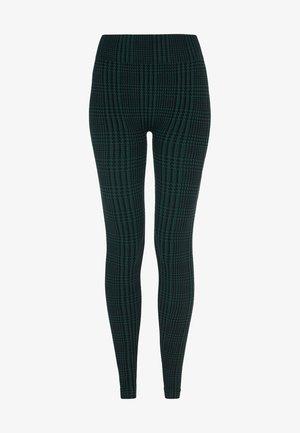 Legging - black/deep green