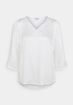 BLOUSE WITH DETAIL - Long sleeved top - wool white