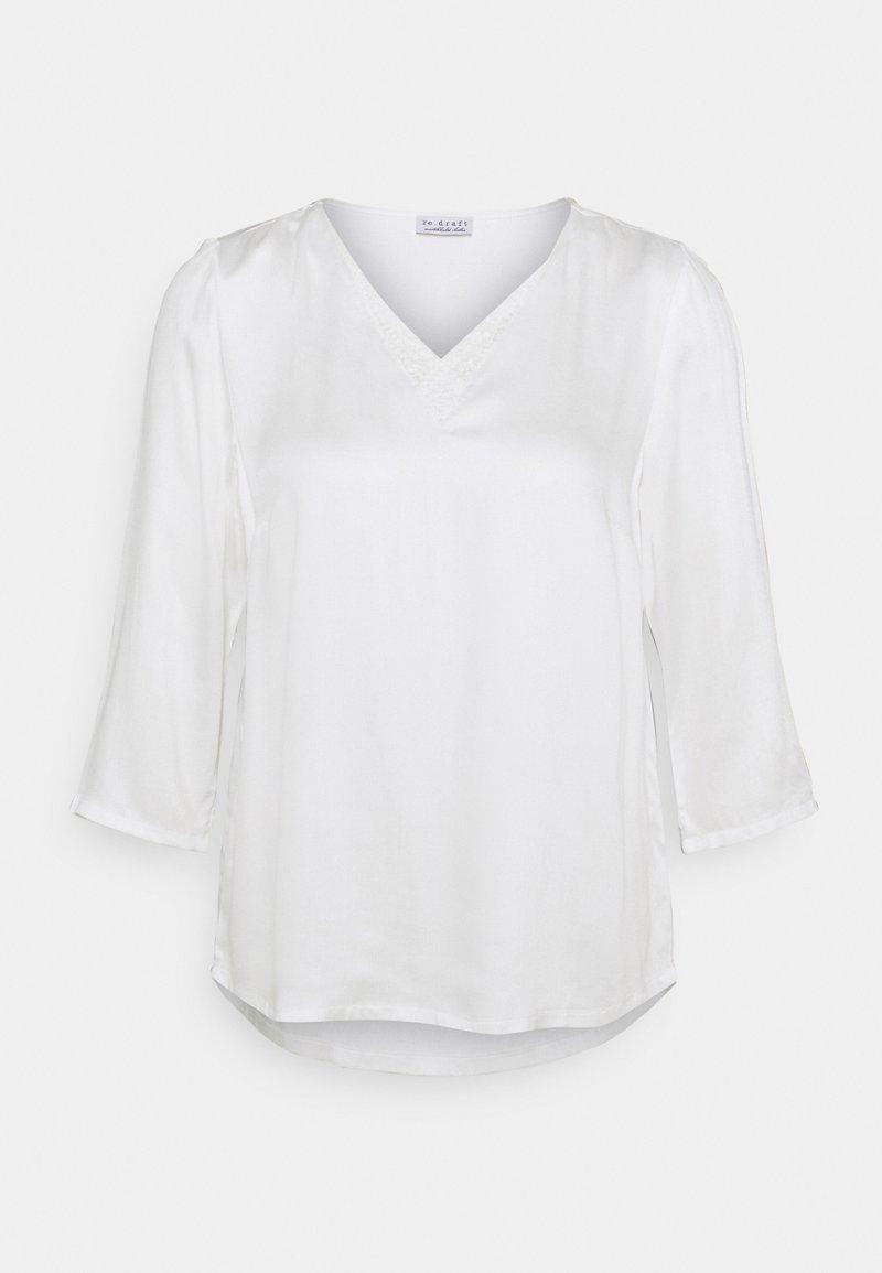 Re.draft - BLOUSE WITH DETAIL - Bluzka z długim rękawem - wool white