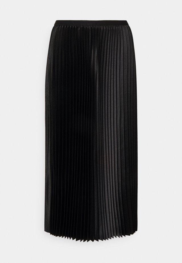RURY - Áčková sukně - black