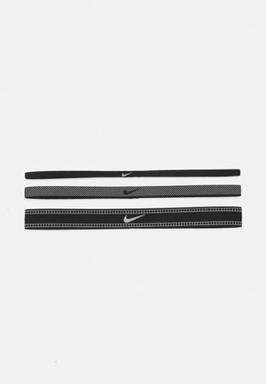 MIXED WIDTH HEADBANDS REFLECTIVE 3 PACK - Accessoires cheveux - black/silver/black