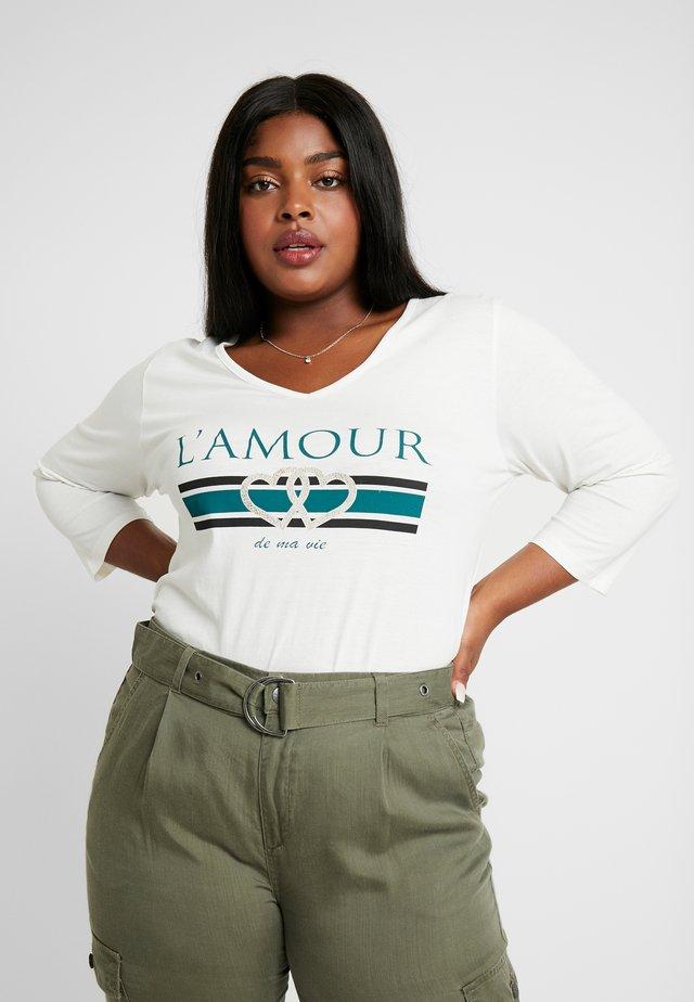 L'AMOUR MOTIF TEE - Long sleeved top - atlantic green