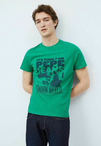 T-shirt med print - emerald