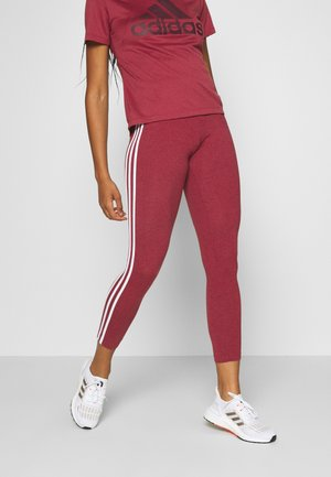 Leggings - bordeaux/white