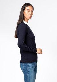 HALLHUBER - MIT BUBIKRAGEN AUS LENZING™-ECOVER - T-shirt à manches longues - dunkelblau - 2