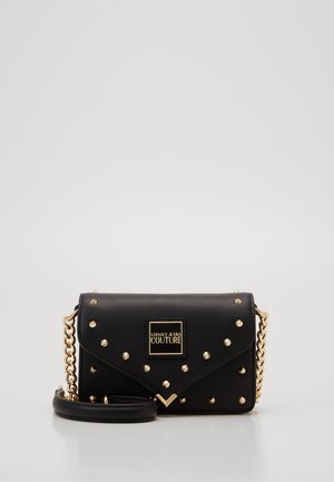 MINI CROSSBODY STUDDED - Schoudertas - nero/oro