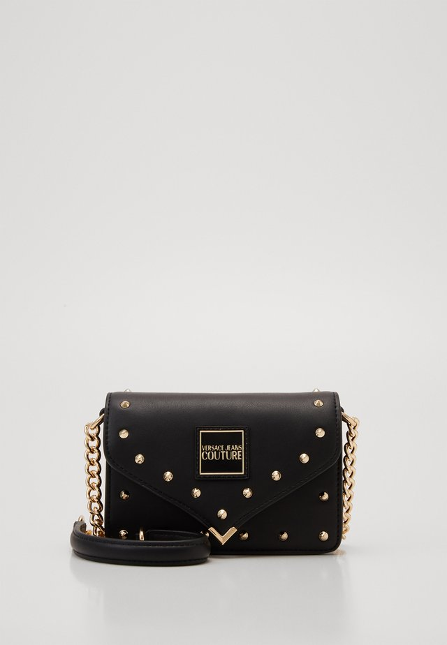 MINI CROSSBODY STUDDED - Borsa a tracolla - nero/oro