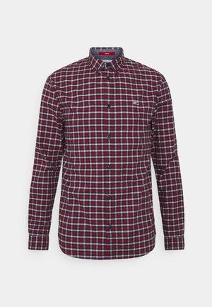 STRETCH CHECK POPLIN  - Shirt - deep crimson