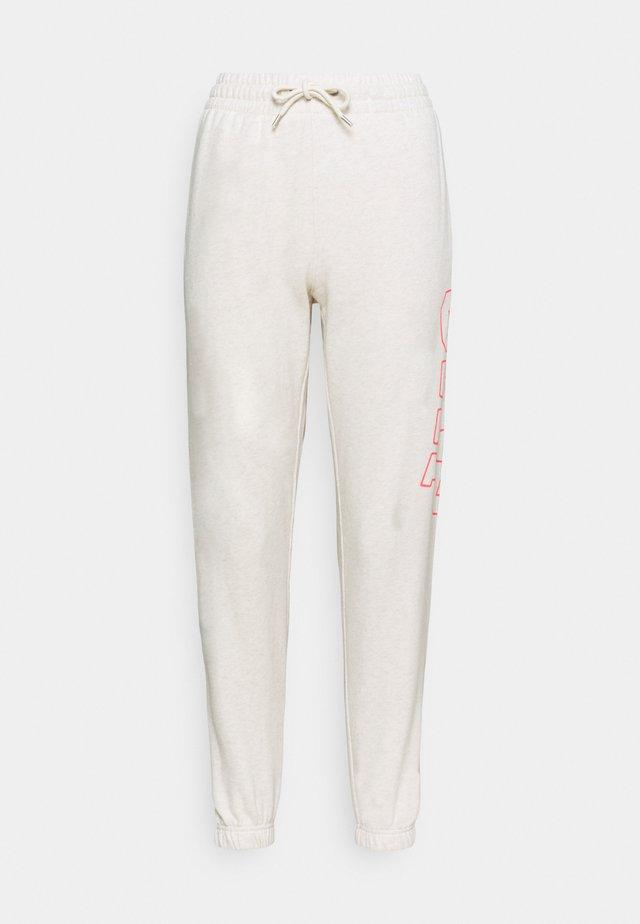 EASY - Teplákové kalhoty - oatmeal heather