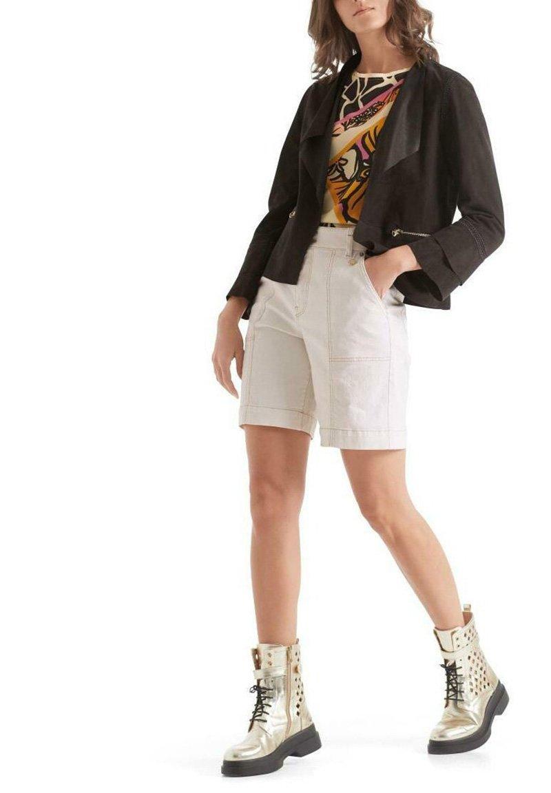 Marc Cain - Leather jacket - arabica