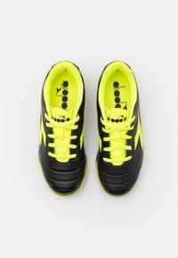 Diadora - PICHICHI 3 TF JR UNISEX - Astro turf trainers - black/fluo yellow - 3