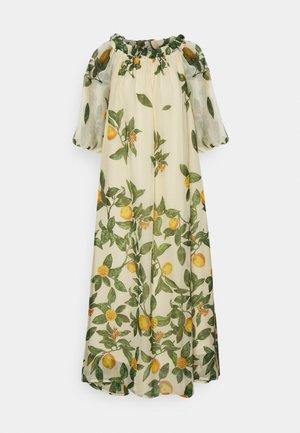 OBJLEMON OFF SHOULDER DRESS - Day dress - sandshell
