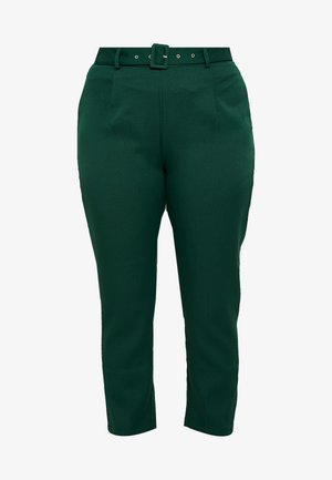 SELF BELT TROUSERS - Pantalones - deep green/teal