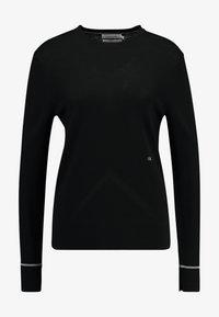 Calvin Klein - SUPERFINE CREW NECK - Jumper - black - 3