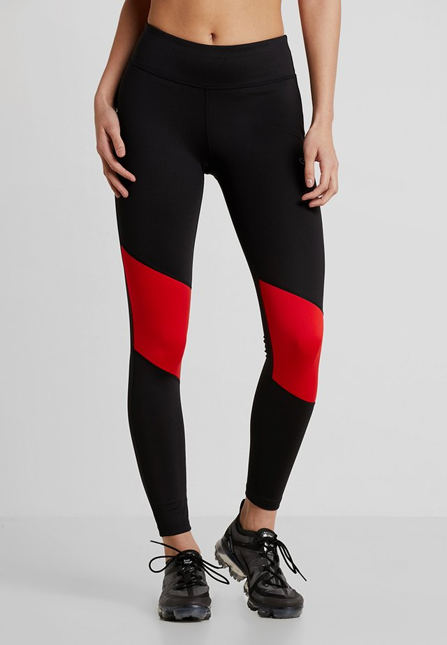 Collant - black/high risk red