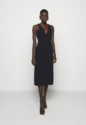V NECK DRESS - Shift dress - nero