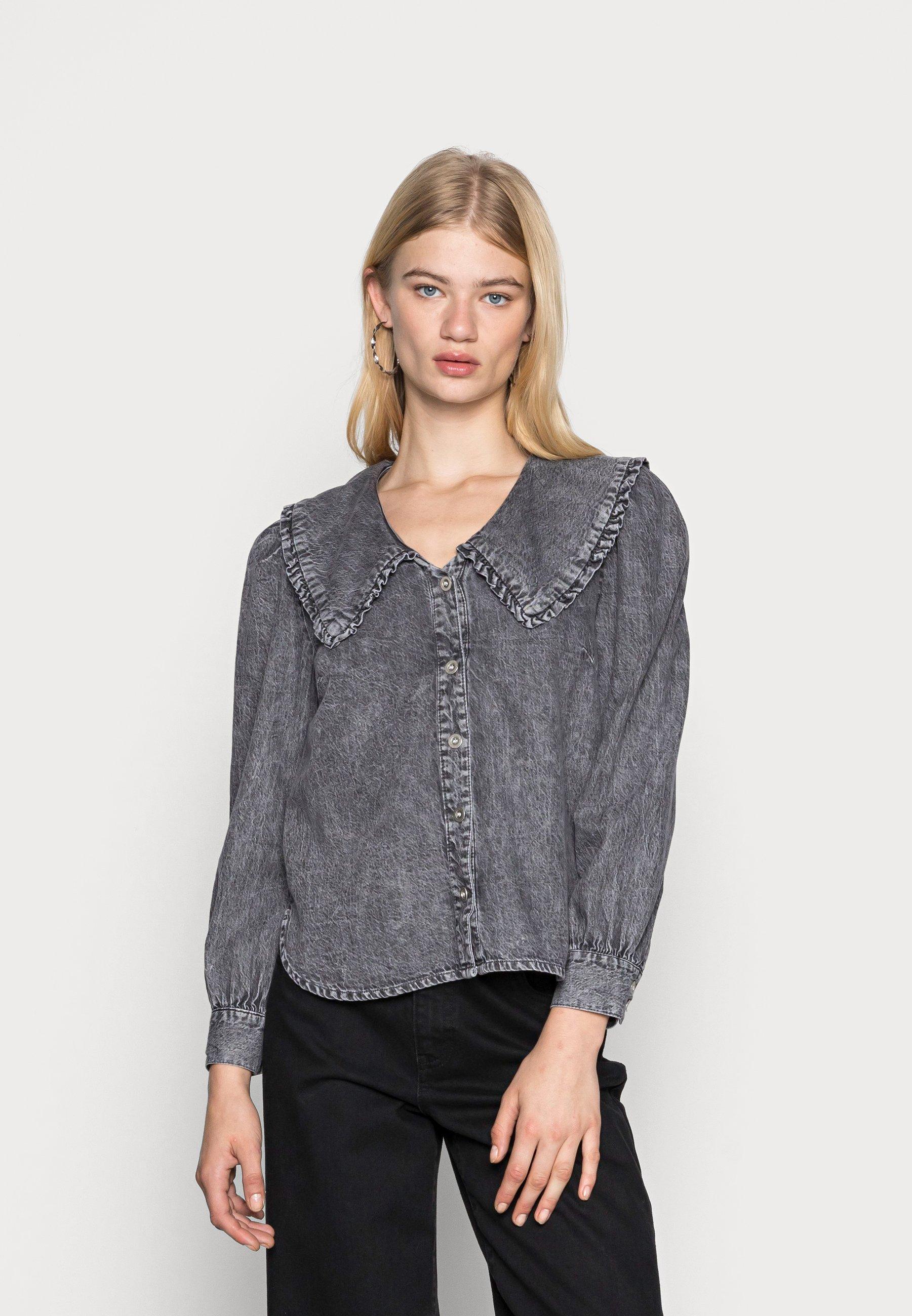 Women ONLTHEA LIFE COLLAR LONG - Button-down blouse