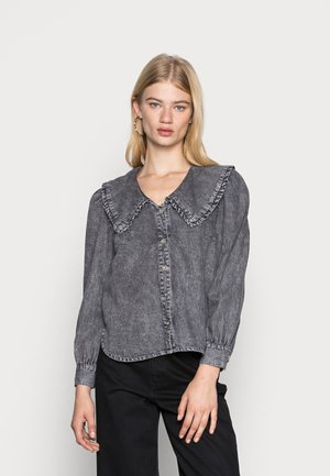 ONLTHEA LIFE COLLAR LONG - Skjorte - grey denim