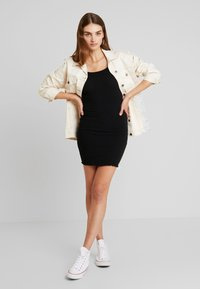 New Look - BUCKLE MINI DRESS - Vestido de tubo - black - 1