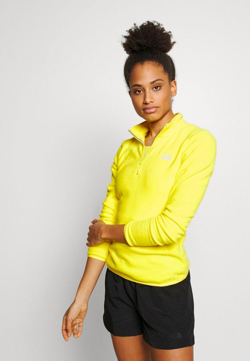 The North Face - WOMEN'S GLACIER 1/4 ZIP - Fleece jumper - lemon