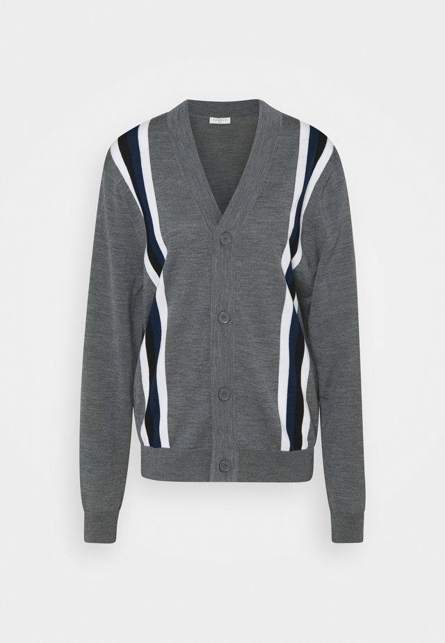 COLLEGE - Kardigan - grey/white/black