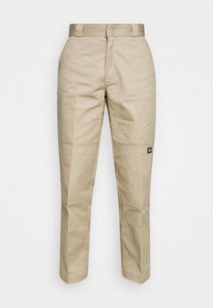 DOUBLE KNEE WORK PANT - Trousers - khaki