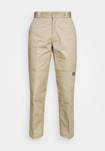 DOUBLE KNEE WORK PANT - Trousers - khaki