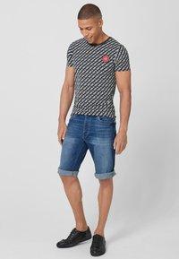 Q/S designed by - Denim shorts - stone blue denim - 1