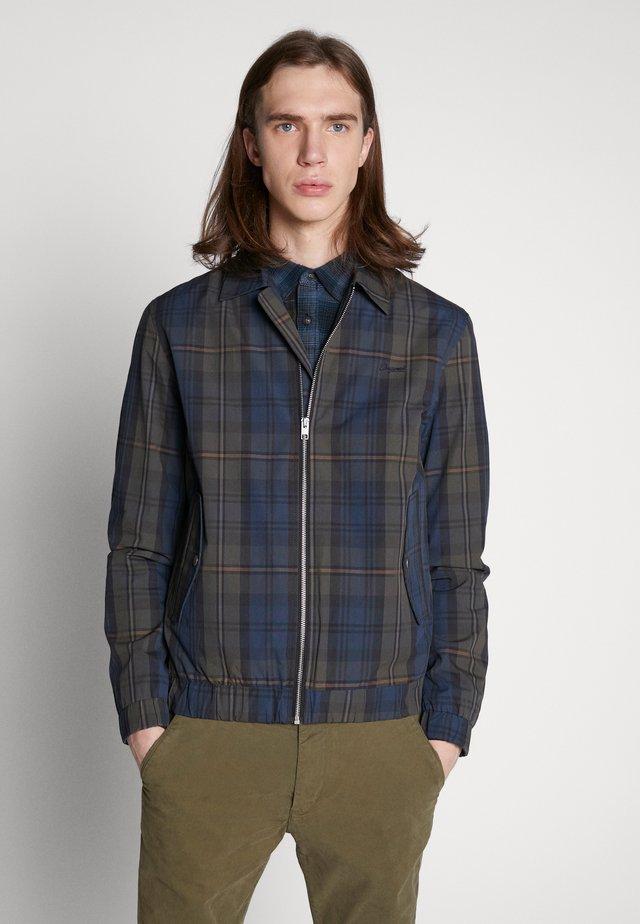 JORTRISTAN HARRINGTON - Summer jacket - navy blazer/checked