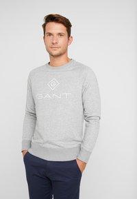 GANT - LOCK UP CREW NECK - Sweatshirt - grey melange - 0