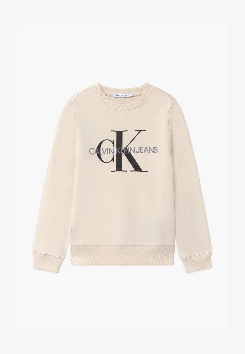 Calvin Klein Jeans - MONOGRAM LOGO UNISEX - Felpa - off-white
